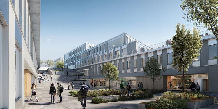 Hus 2, Albano, Stockholm. Byggstart 2016. Färdig 2020. Arkitektskiss: Christensen & Co Arkitekter