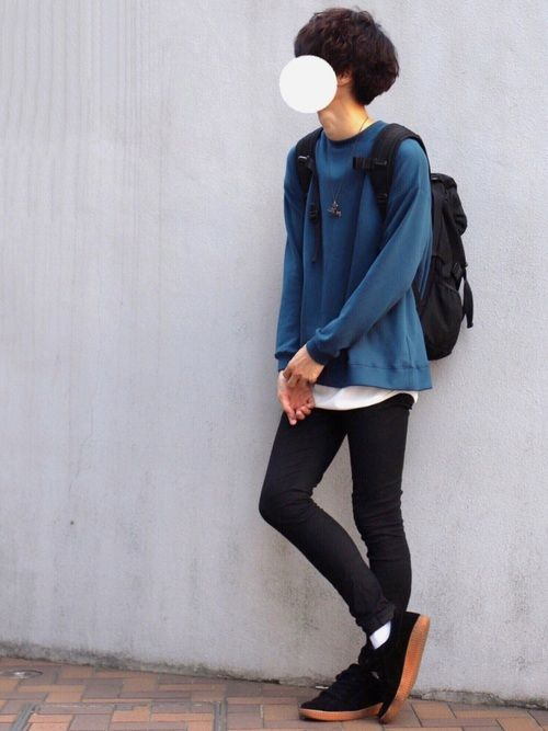 またもや青コーデ これからの時季に◎ 簡単シンプルコーデ ■着用サイズ■ swea