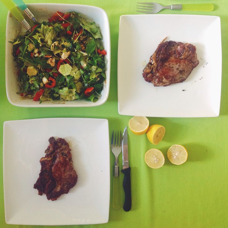 Steak and salad. What else?