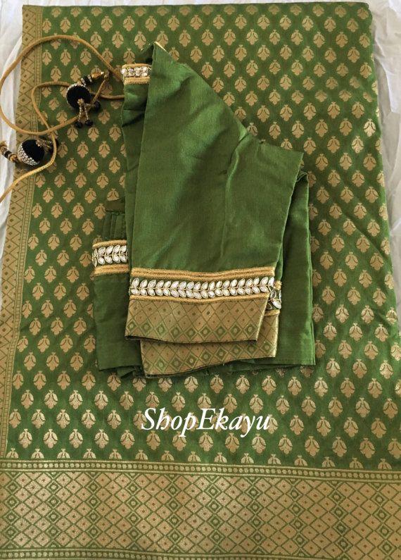 Indian/Pakistani Ethnic Ready To Wear Benares Saree with