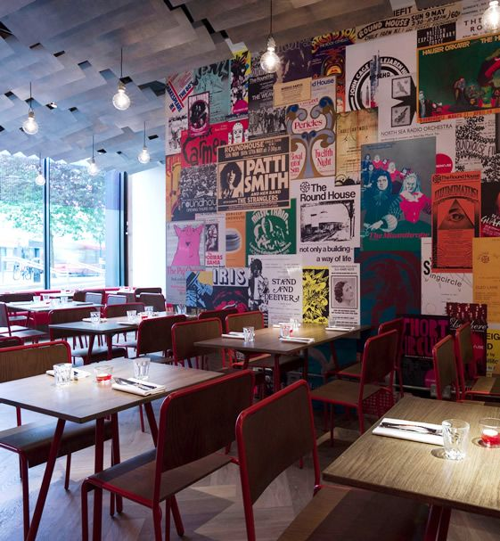 Decked out with lovely, utilitarian 'canteen' style furniture and echoing the industrial Grade II listed performing arts space it's located within, Made In Camden is an endearing little dining room with a thoroughly agreeable menu.