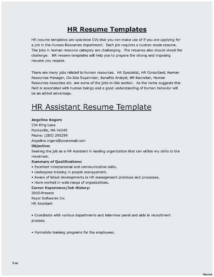 24 Human Resources Templates Awesome Hr Resume Examples 50ger Resume Skills Hr Resume Job Resume Format