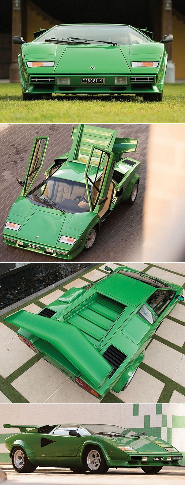 ✨ Lamborghini Countach, 1981 - a flying wedge, in the style of Giorgetto Giugiaro's prototypes of the early 1950s.