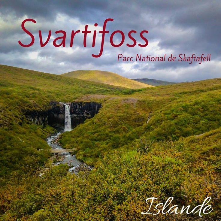 Sud Islande lieux d intérêt - Cascade de Svartifoss Islande - Parc National de Skaftafell 2