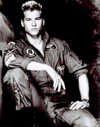Val Kilmer. Top Gun. loved him.  then he got old. and fat. and skeezy.