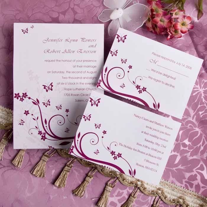realtree wedding invitations%0A Romantic Rose Pink Butterfly Wedding Invitations IWI      Wedding  Invitations Online  InvitesWeddings com