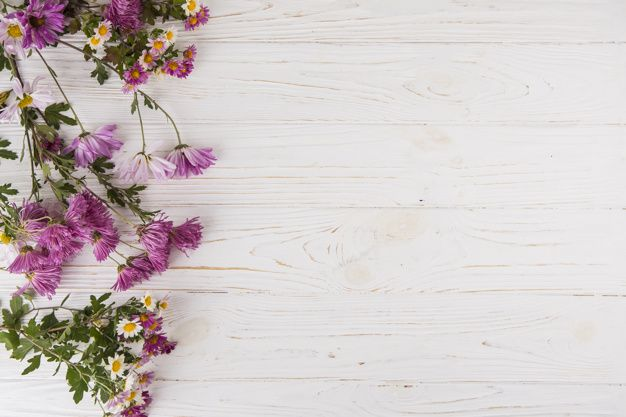 Download Different Bright Flowers Scattered On Light Table For Free Flower Backgrounds Flower Background Wallpaper Floral Background