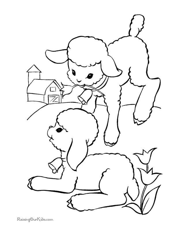 Printable Easter kid coloring page