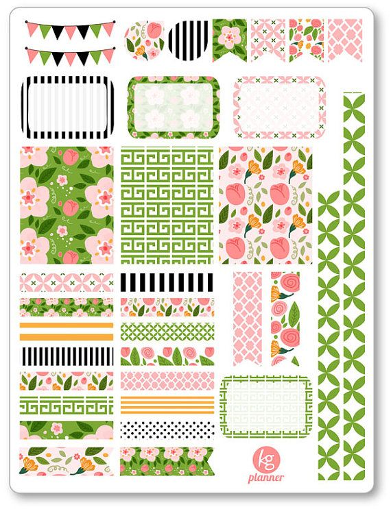 Rosa décoration Kit / Spread Weekly Planner par PlannerPenny