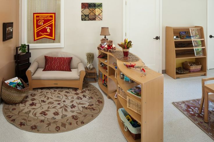USC Children Center Reading Area, by Kohburg . For more inspiring classrooms visit: http://pinterest.com/kinderooacademy/provocations-inspiring-classrooms/ ≈ ≈