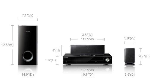 Samsung dvd home theater system model ht-z410