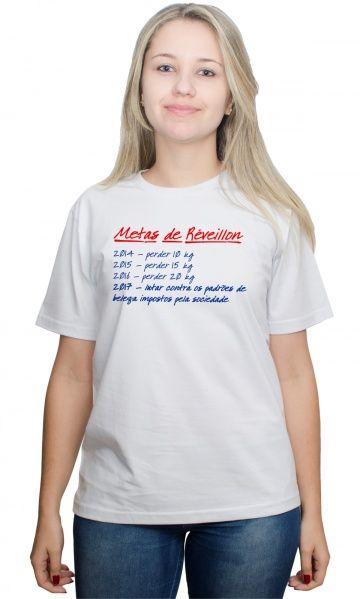 Camiseta - Metas de réveillon - camisetas legais | camisetaseradigital