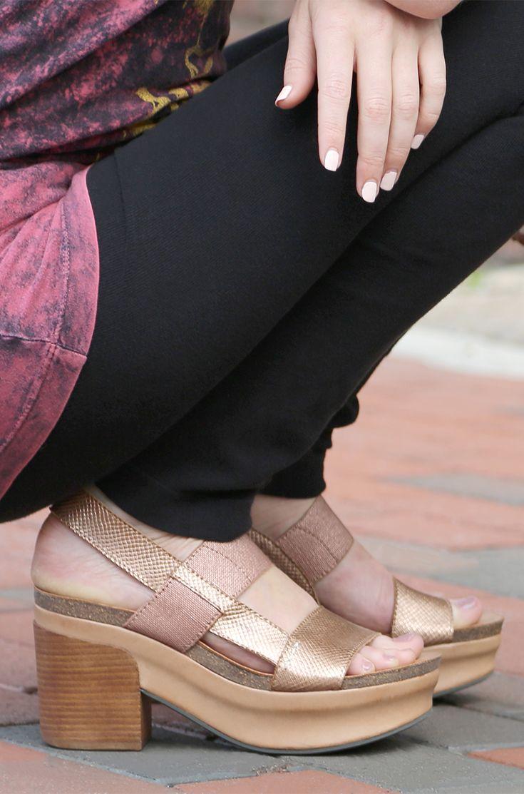 INDIO in COPPER Wedge Sandals