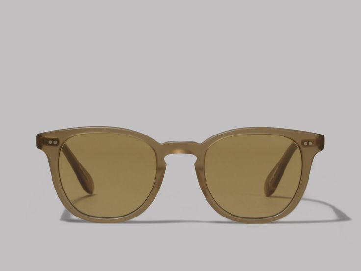 Garrett Leight McKinley Sunglasses (Matte Bottle Glass Brown / Pure Tan)