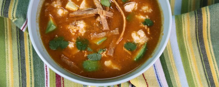 TORTILLA SOUP ~ Michael Simon's recipe for a classic Mexican soup!  Quick and easy using a rotisserie chicken!