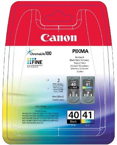 Canon Tintenpatrone PG-40/CL-41 Multipack (2 Cartridges), schwarz und farbig