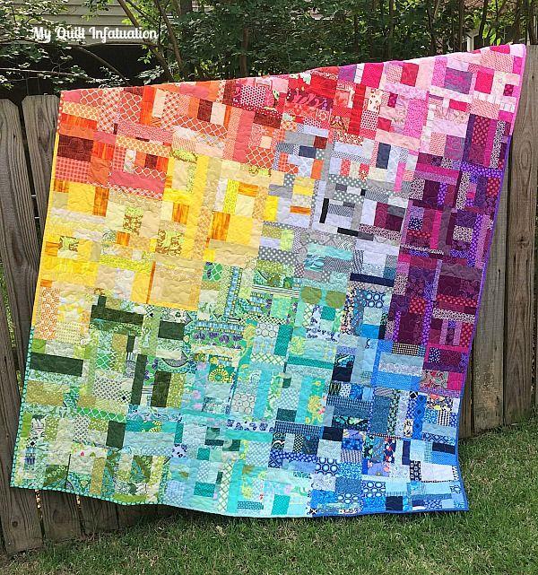 245 best Rainbow quilts images on Pinterest | Contemporary ... : rainbow quilt pattern - Adamdwight.com