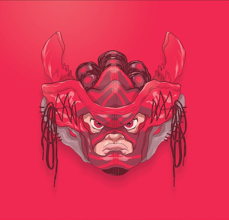 reginasworld:   Totoi created these awesome illustrations as a tribute to the sneaker masks created by LA-based artist Gary Lockwood, aka Freehand Profit.