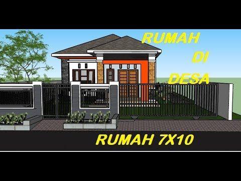 model rumah terbaru 2020 desain rumah pedesaan 7 x 10