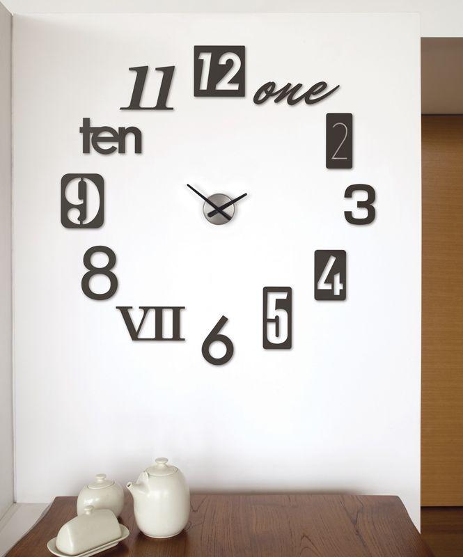 Reloj Pared Numbra Negro   o2lifestyle