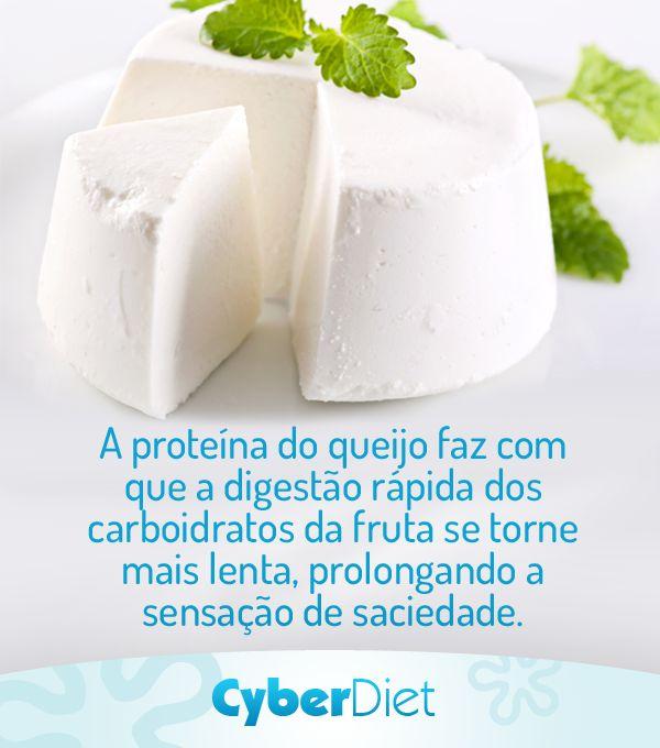 Queijo branco e frutas, ótima combinação para o lanche de quem quer emagrecer! Mais dicas em https://facebook.com/cyberdietoficial