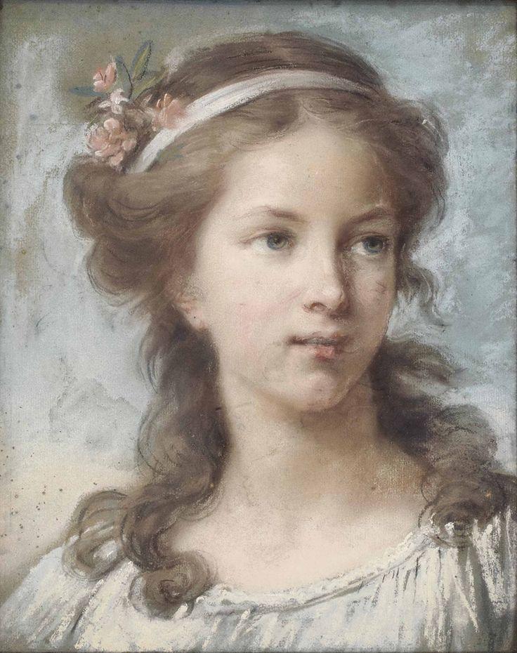 Louise Elisabeth Vigée Le Brun (French, 1755 - 1842): Portrait of a young girl