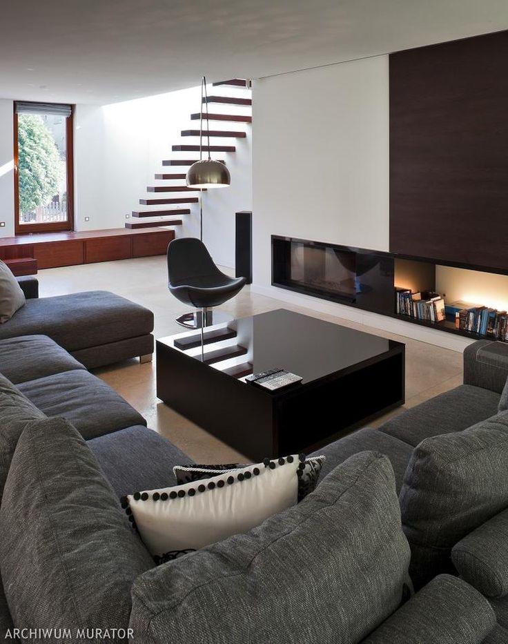 Pokój dzienny w nowoczesnym domu