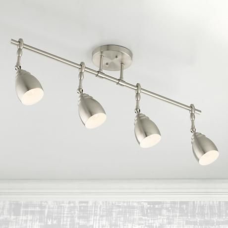 directional track lighting. Pro Track Elm Park Collection Brushed Steel 4-Light Fixture - Style # 53787 Directional Lighting E