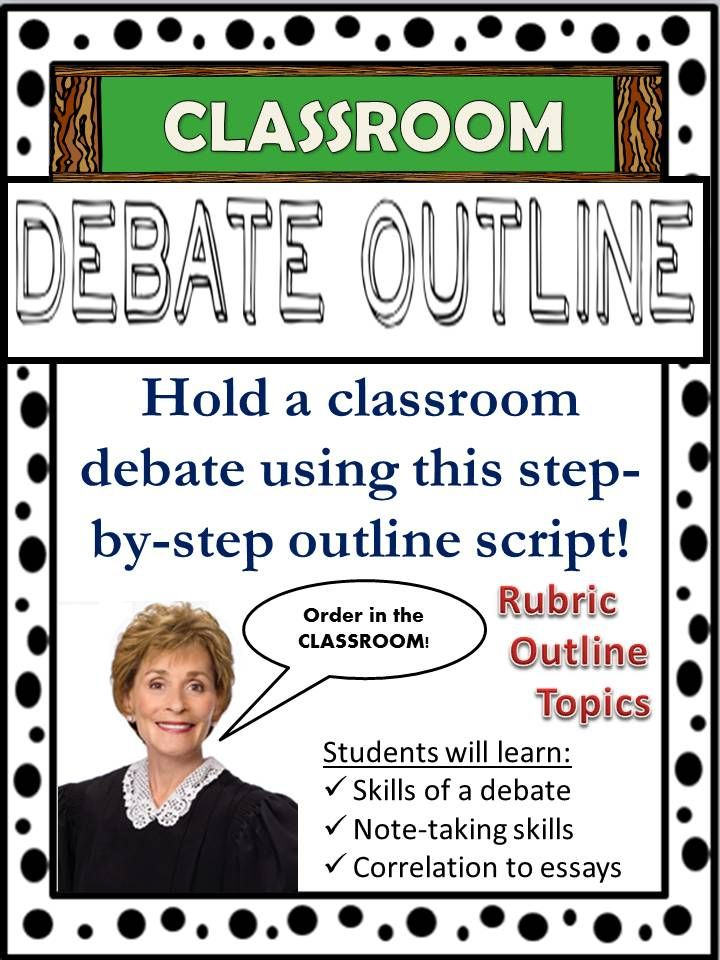 Host a friendly classroom debate with your students! This activity can be incorporated into any subject area that requires students to have a comprehensive understanding of a particular topic. A fun activity for all involved, and a great way to get students talking!