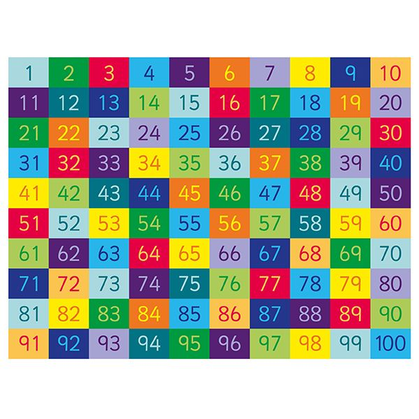 Kalocolor 1 100 Numbers Rug 4 11 Quot W X 6 7 Quot L An 11