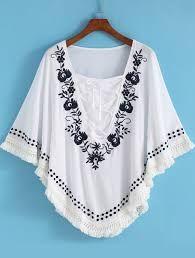 Resultado de imagem para blusas bordadas pinterest