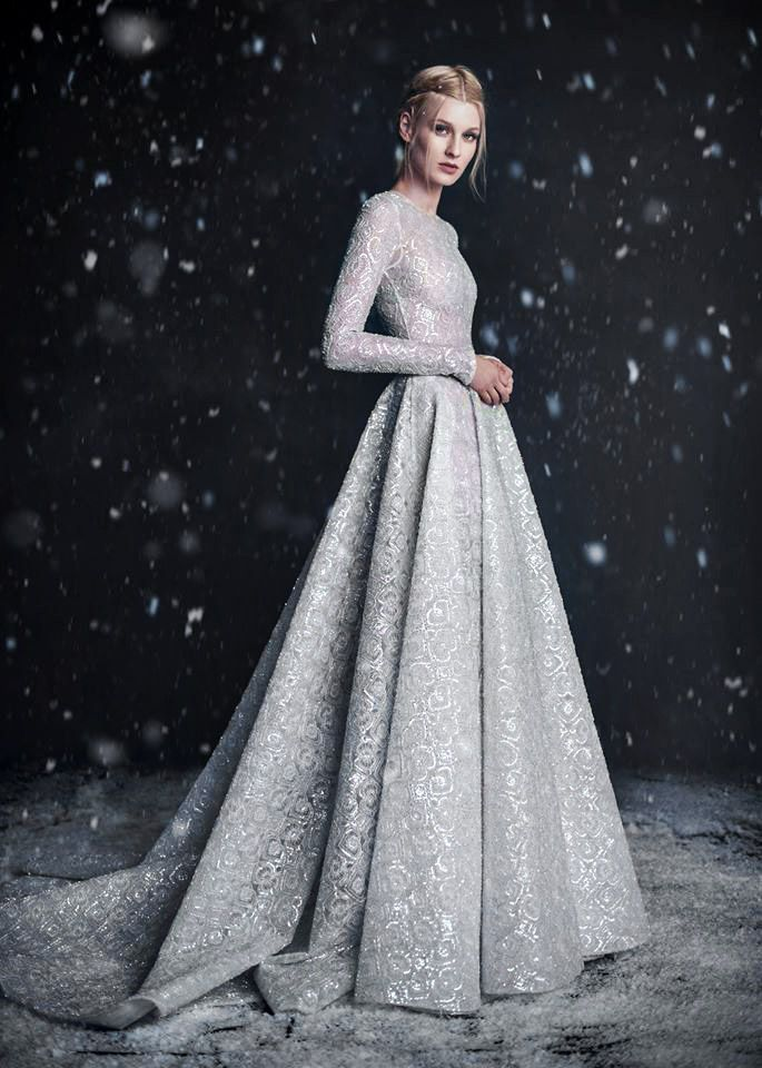runwayandbeauty:  Paolo Sebastian Fall/Winter 2016, Haute Couture: The Snow Maiden Campaign.