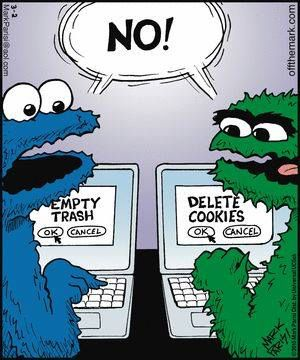 Computer humor w/Cookie Monster & Oscar the Grouch