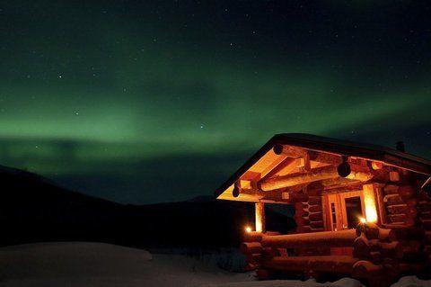 Auroras boreales en #Laponia finlandesa. Verlas desde tu casa de intercambio no tiene precio.