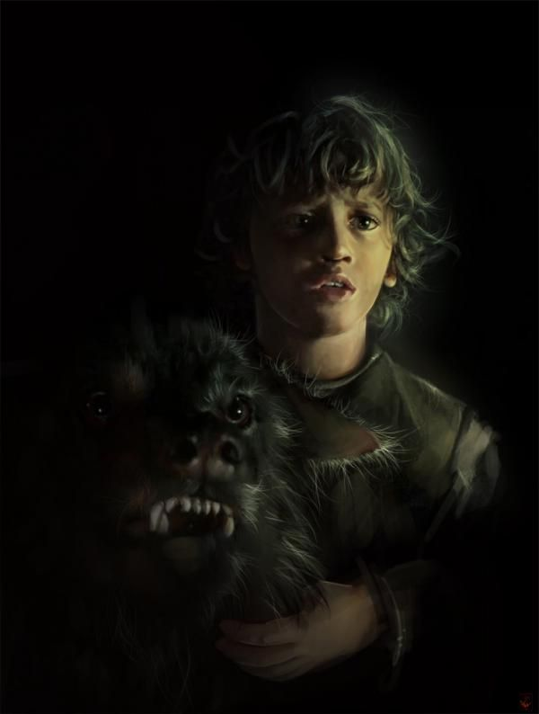 Art Parkinson as Rickon Stark, Game of Thrones by Anna Mitura  Character © George R. R. Martin