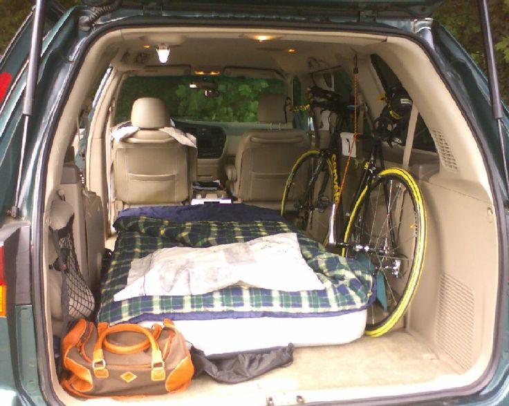 Camping In A Honda Odyssey Honda Odyssey Pinterest