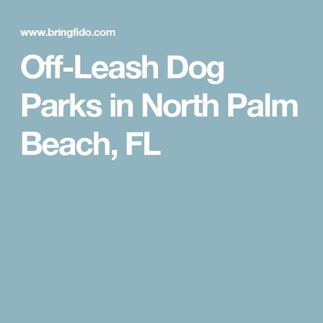 Off-Leash Dog Parks in North Palm Beach, FL