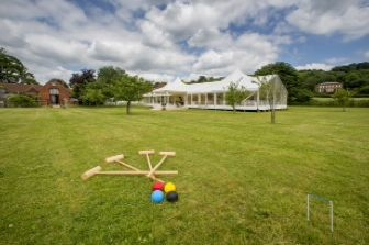 Enjoy your surroundings at your summer wedding with open or clear sides on your marquee