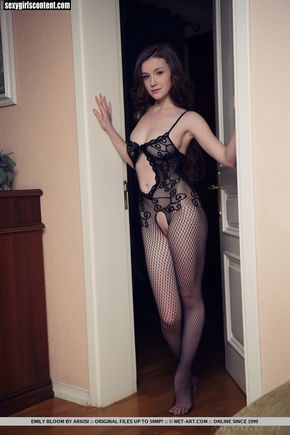 12 sexy pale redhead emily bloom mesh outfit metart dgeb45