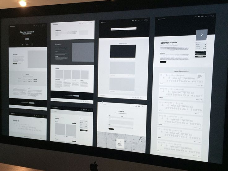 Wireframes for Dental Research Website by Adam Butler