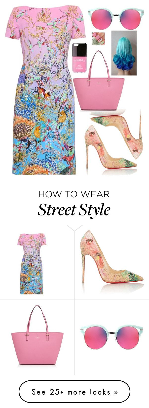 """""""Sassy Woman"""" by lollidrop5 on Polyvore featuring Mary Katrantzou, Christian Louboutin, Kate Spade, Gentle Monster and Iphoria"""