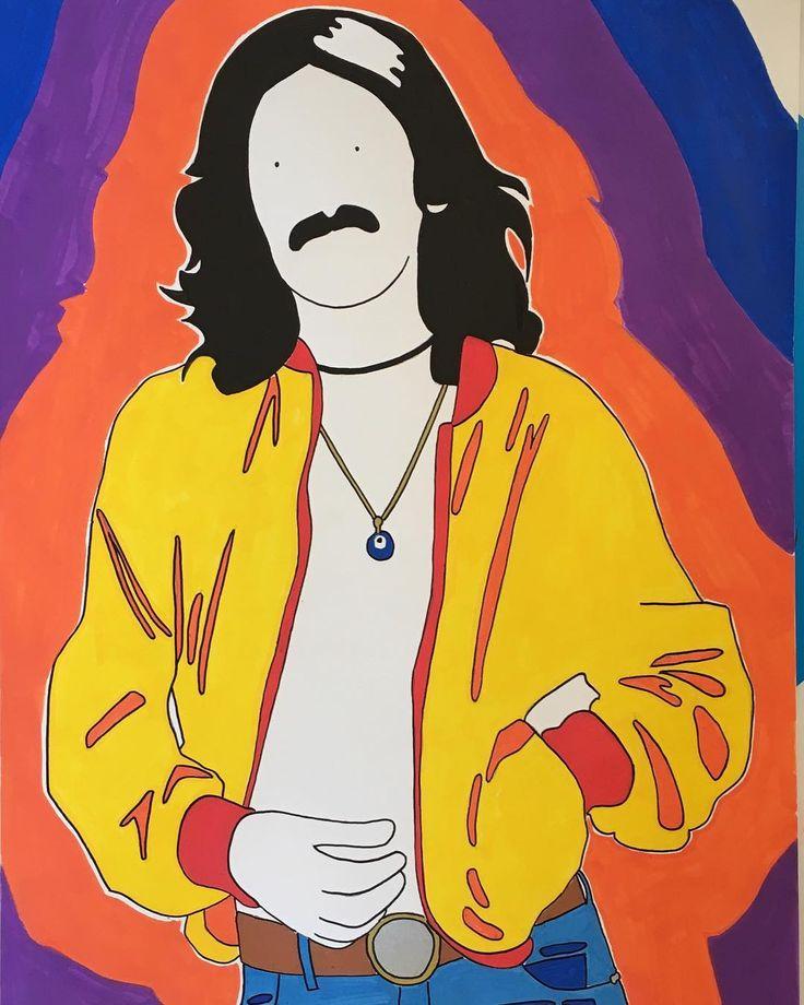 F R E S H ⚡️#illustration #drawing #georgeharrison #music #raimbow #art #psychedelic #colors #artwork #uniposca #poscart #posca #fabriano #minimal #ポスカ #beatles #80s #alessiovitelli #2017