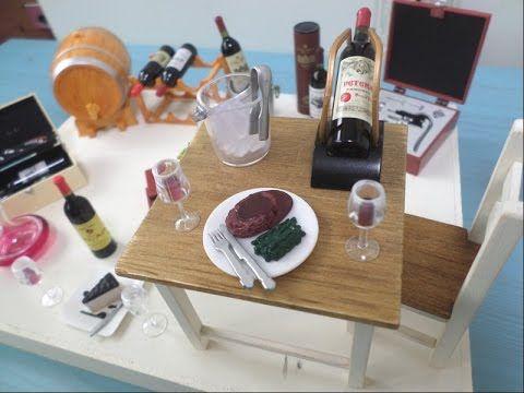 미니어쳐 재료 쇼핑몰 타이니몰에서 와인식완 후기/miniature wine/ミニチュア ワイン - YouTube