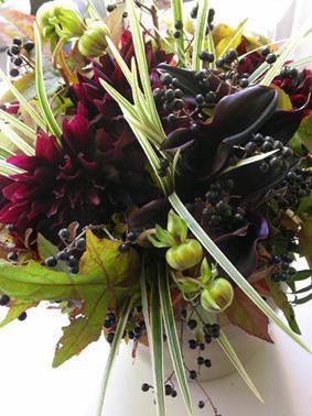 Wine + Black + Green Paris et l'Automne : Paris, la tendance et les fleurs . . .