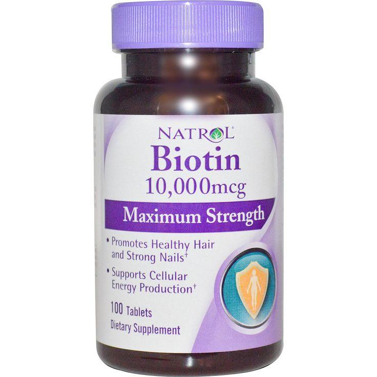 Natrol, Биотин, максимум действия, 10,000 мкг, 100 таблеток