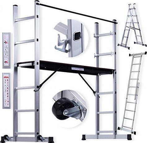 Masko® Échafaudage en aluminium échafaudage échafaudage en aluminium Échelle échafaudage de travail Travail Scène Professionnelle:…
