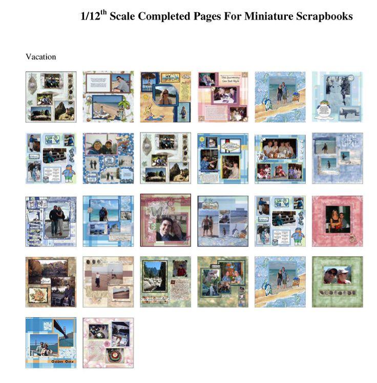 64 Best Mini Scrapbooking Images On Pinterest