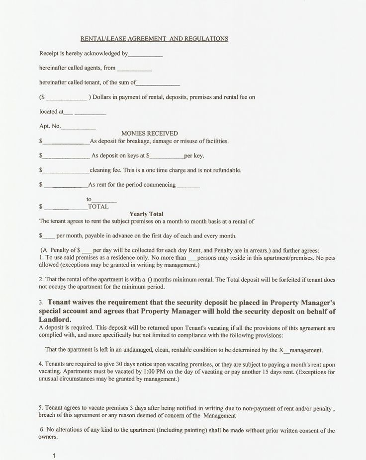 Best Lease Agreements Images On   Real Estate Forms