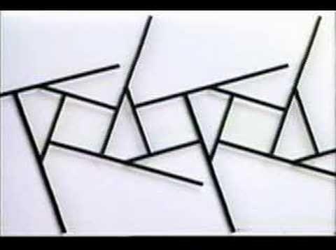 Dynamic Structure 10In het werk van Willem van Weeghel staat beweging als beeldend middel centraal. Zijn kinetische objecten kenmerken zich doorgaans door serieel gebruik van beeldelementen.Identieke elementen met identieke bewegingsmogelijkheden vormen tezamen voortdurend veranderende structuren. Als dansers in een complexe choreografie. De vormen die hij gebruikt fungeren daarbij alleen als middel om de beweging zichtbaar te maken en zijn daarom zo eenvoudig mogelijk.