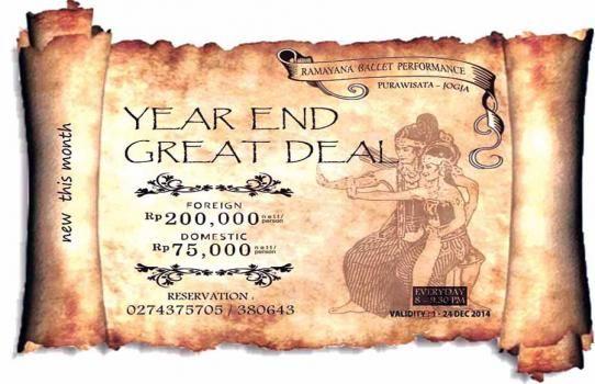 year end great deal | ramayana ballet performance | Purawisata Jogjakarta Indonesia +62 274 375705 / +62 274 380643